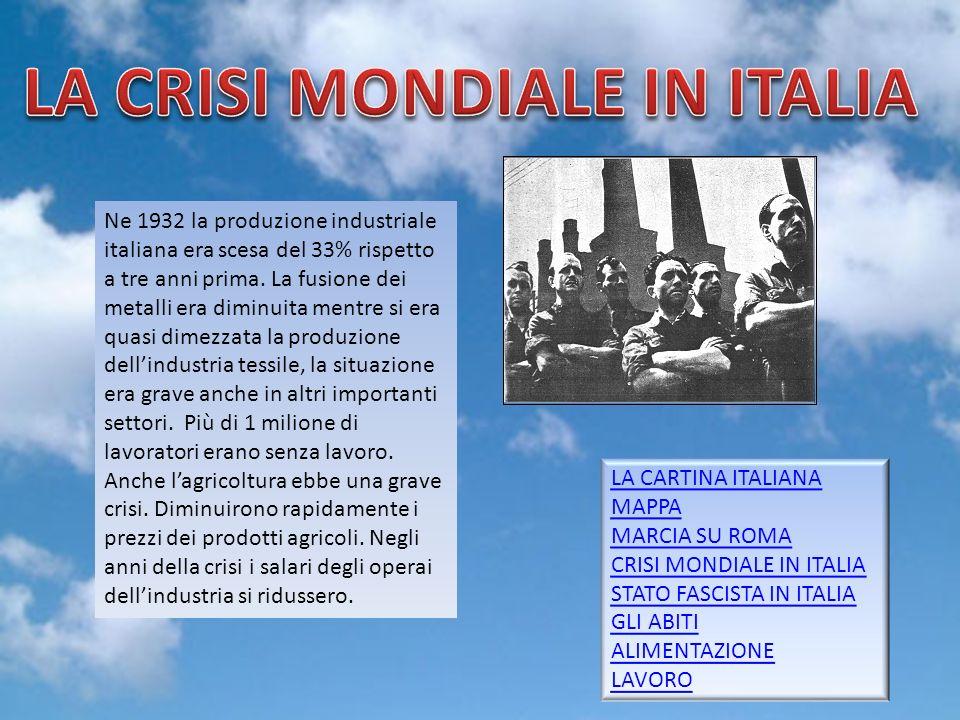 Gruppo 55 Ne 1932 la produzione industriale italiana era scesa del 33% rispetto a tre anni prima.