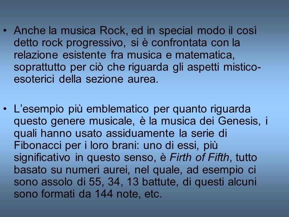 Anche la musica Rock, ed in special modo il così detto rock progressivo, si è confrontata con la relazione esistente fra musica e matematica, soprattu
