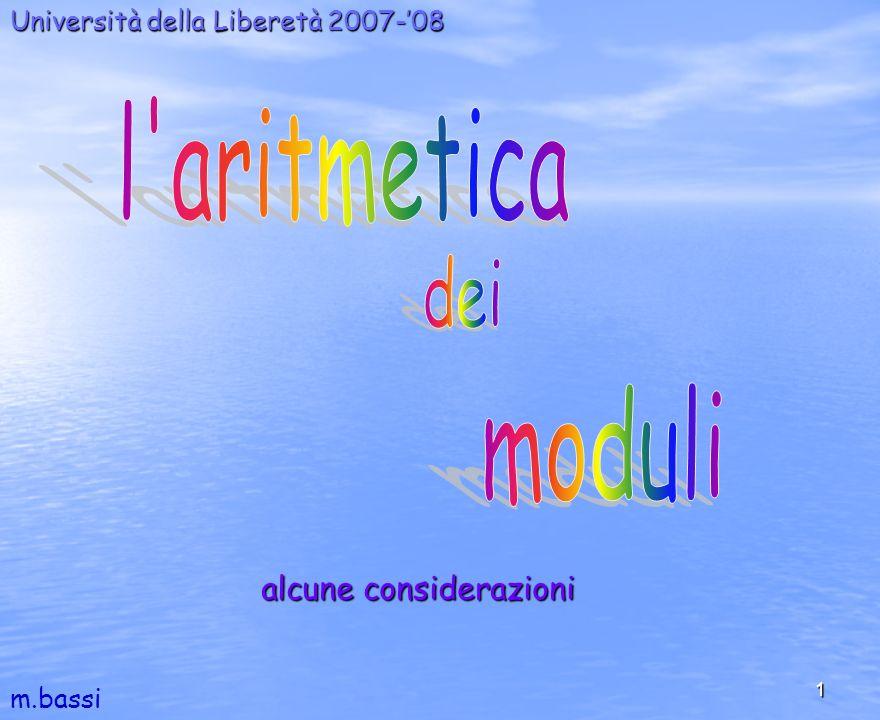 1 Università della Liberetà 2007-08 m.bassi alcune considerazioni