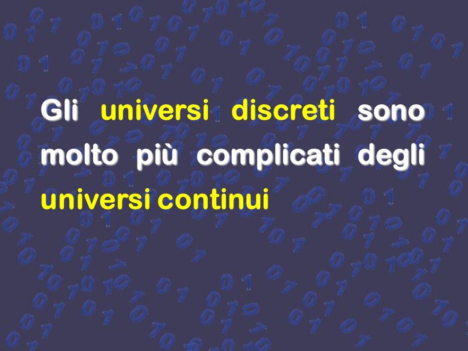 hanno degli e basano le loro teorie sul continuo e sulla simmetria I fisici hanno paura degli universi discreti e basano le loro teorie sul continuo e