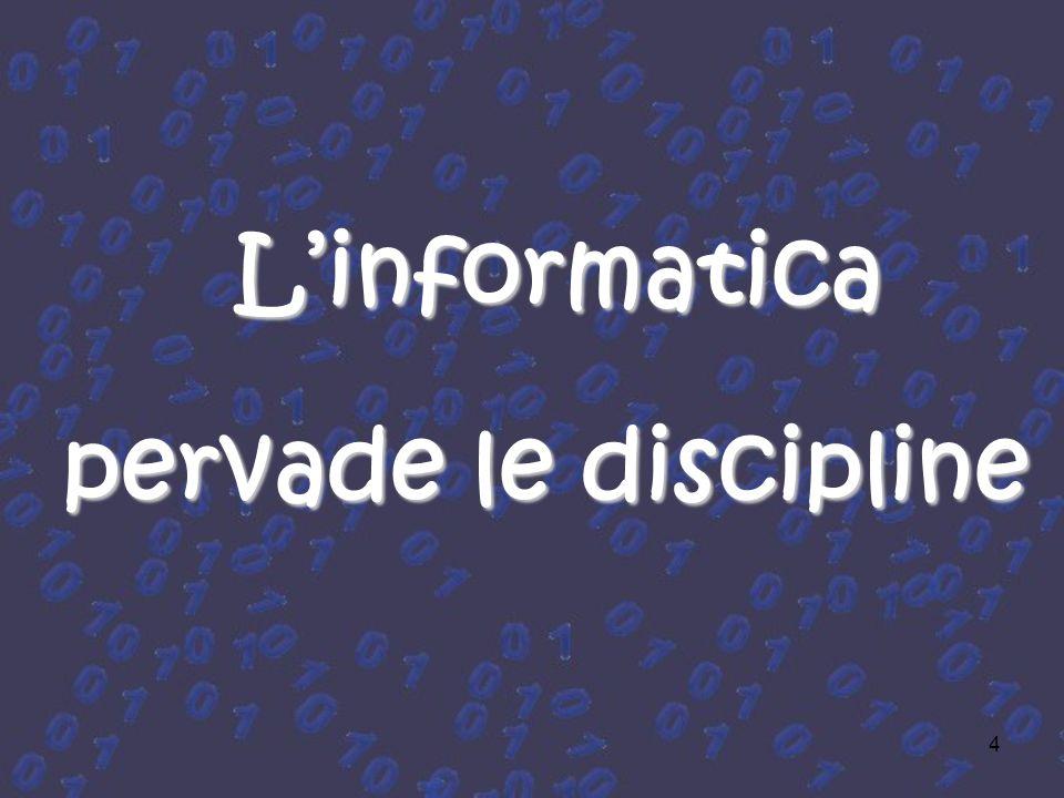 4 Linformatica pervade le discipline