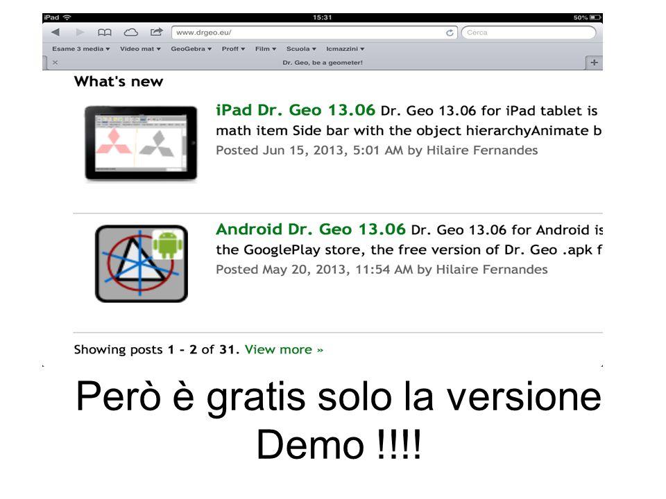 Però è gratis solo la versione Demo !!!!
