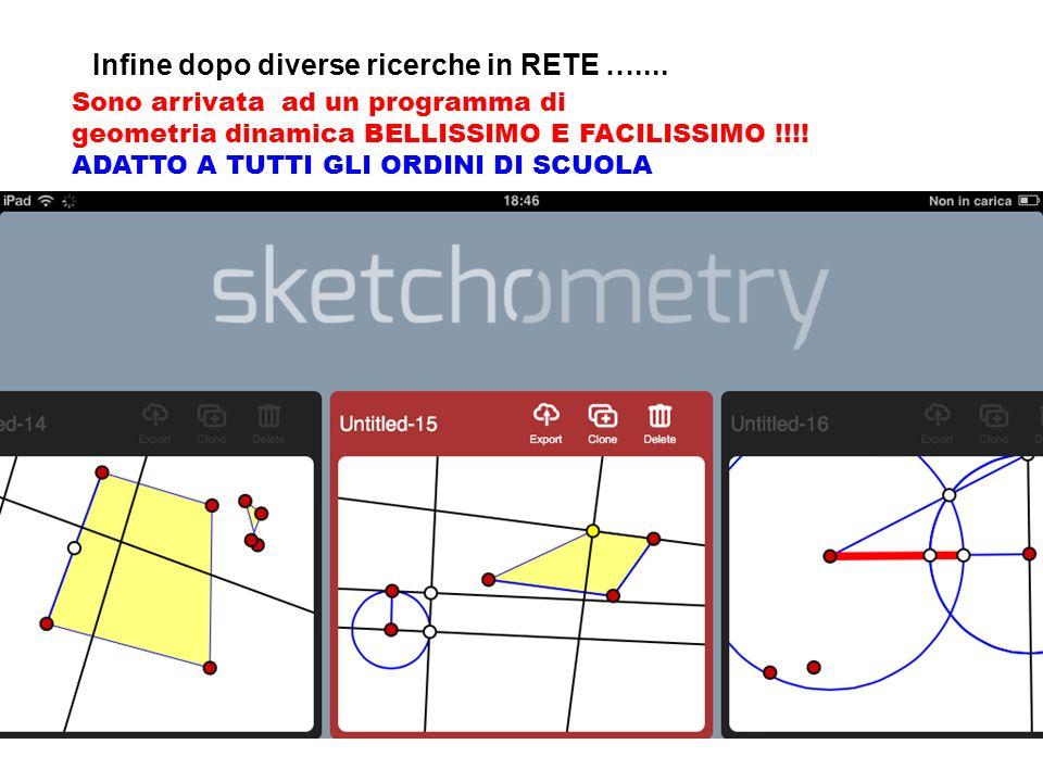Infine dopo diverse ricerche in RETE ….... Sono arrivata ad un programma di geometria dinamica BELLISSIMO E FACILISSIMO !!!! ADATTO A TUTTI GLI ORDINI