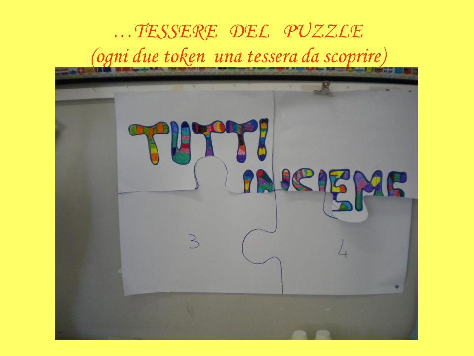 …TESSERE DEL PUZZLE (ogni due token una tessera da scoprire)