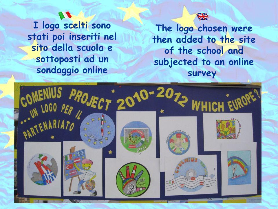 I logo scelti sono stati poi inseriti nel sito della scuola e sottoposti ad un sondaggio online The logo chosen were then added to the site of the school and subjected to an online survey