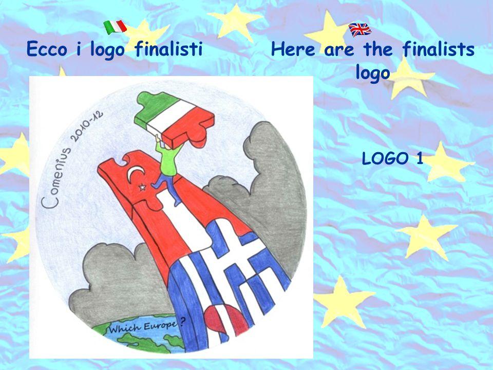 Ecco i logo finalisti LOGO 1 Here are the finalists logo