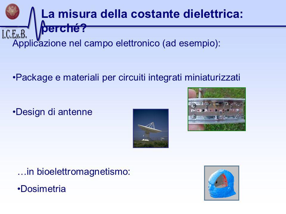 La misura della costante dielettrica: perché? Applicazione nel campo elettronico (ad esempio): Package e materiali per circuiti integrati miniaturizza