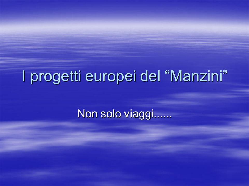 I progetti europei del Manzini Non solo viaggi......