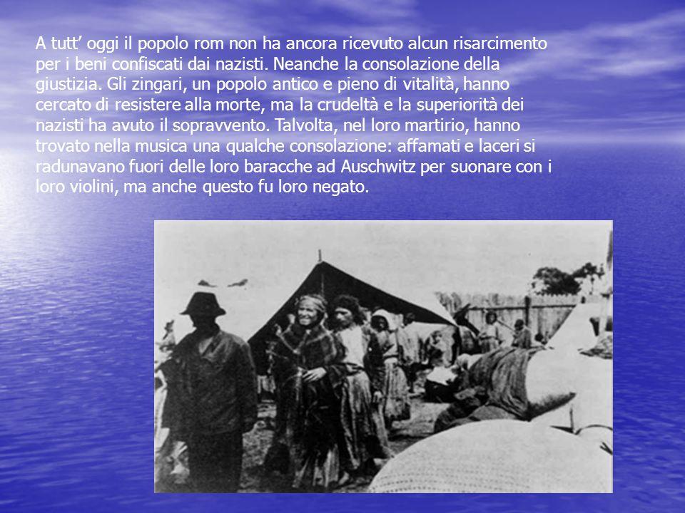 A tutt oggi il popolo rom non ha ancora ricevuto alcun risarcimento per i beni confiscati dai nazisti. Neanche la consolazione della giustizia. Gli zi