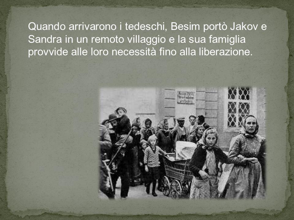 Merushe, la figlia di Aishe e Besim, è stata invitata, nel 1992, per ricevere il premio Giusti fra le Nazioni in memoria dei genitori.