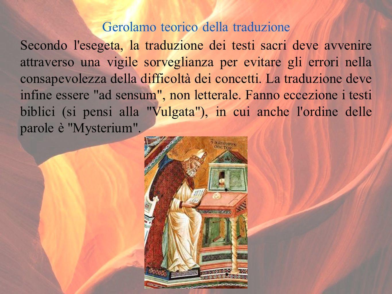 Decor classico e spirito cristiano; stile e linguaggio della scrittura Gerolamo riesce a coniugare lo stile e il linguaggio classici a stile e linguaggio cristiani.