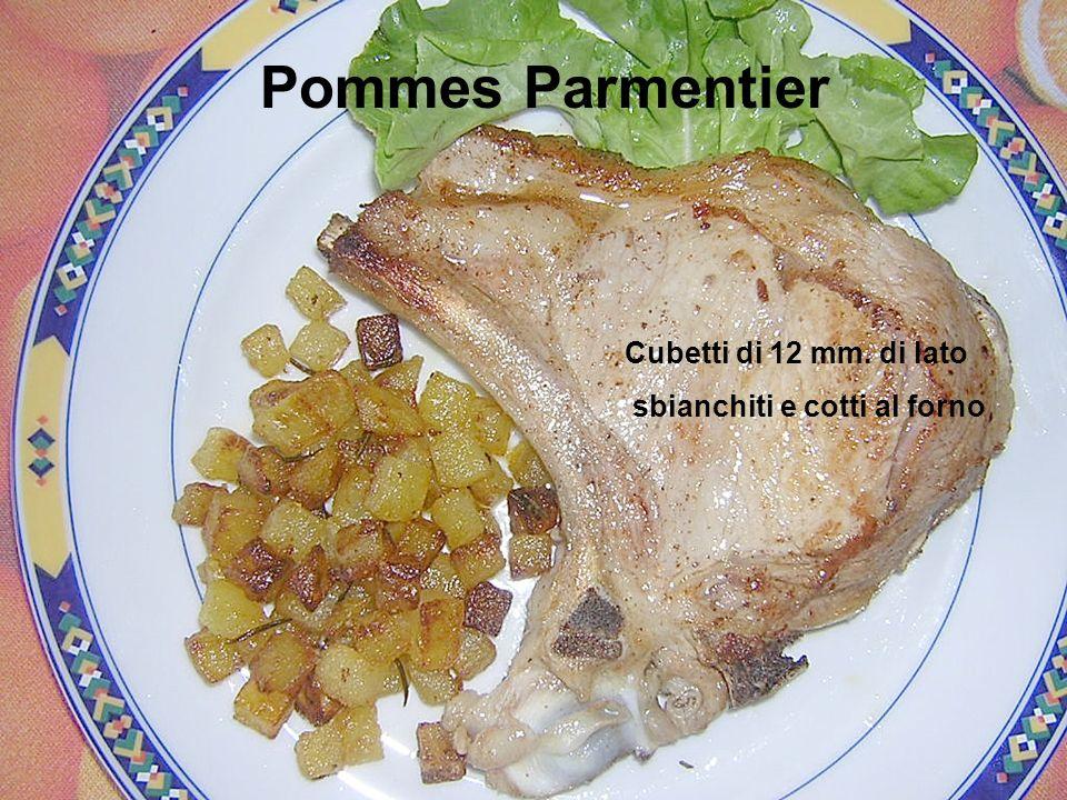 Pommes Parmentier Cubetti di 12 mm. di lato sbianchiti e cotti al forno