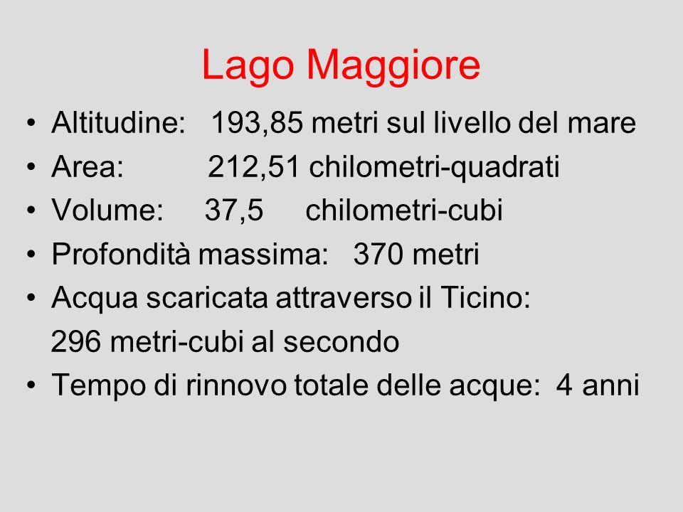 (batimet ria 56K) (batimet ria 56K) Altitudi ne 193.85 m s.l.m. Area 212.51 km 2 Volume 37.5 km 3 Prof. max. 370 m Prof. med ia 177.5 m Superfi cie de