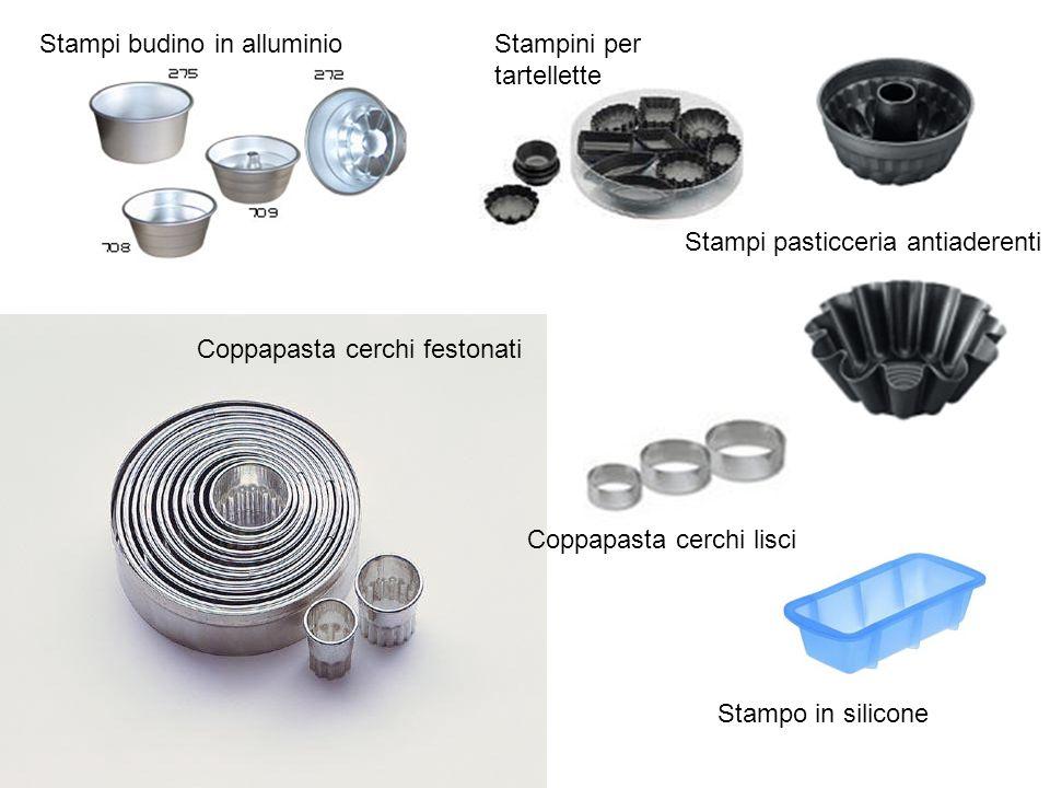 Stampi budino in alluminioStampini per tartellette Coppapasta cerchi lisci Coppapasta cerchi festonati Stampi pasticceria antiaderenti Stampo in silicone