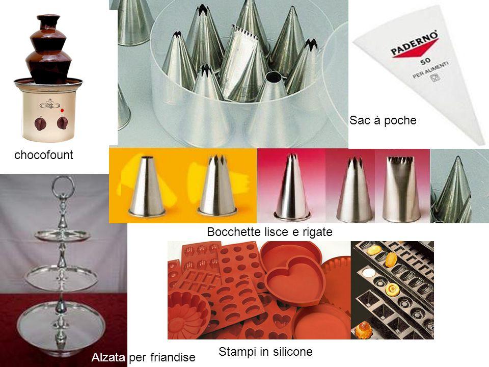 chocofount Alzata per friandise Sac à poche Bocchette lisce e rigate Stampi in silicone