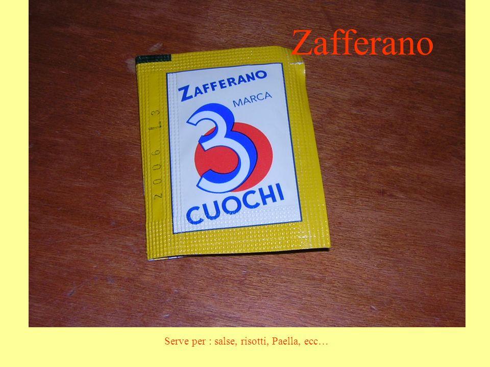 Zafferano Serve per : salse, risotti, Paella, ecc…