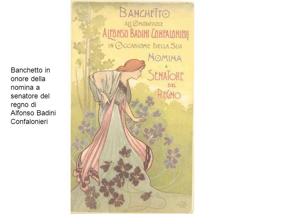 Banchetto in onore della nomina a senatore del regno di Alfonso Badini Confalonieri