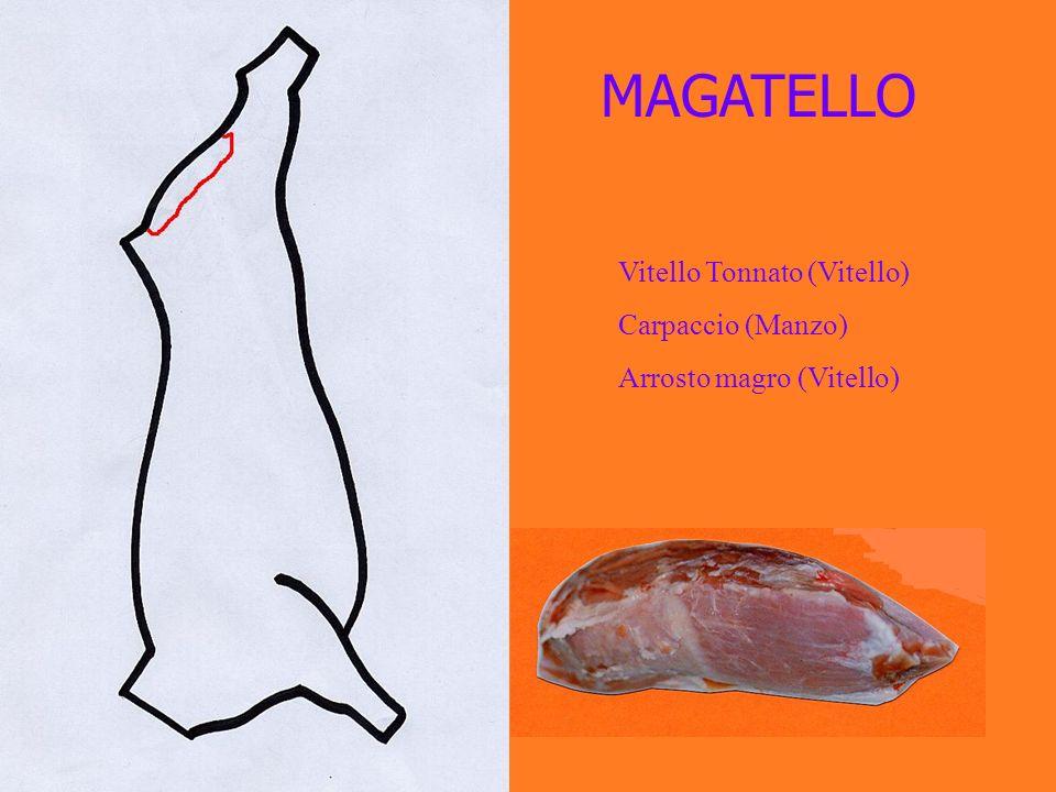 MAGATELLO Vitello Tonnato (Vitello) Carpaccio (Manzo) Arrosto magro (Vitello)