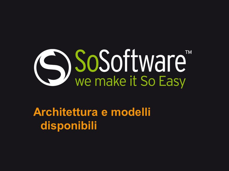 SoLo mobile solutions, architecture Software nei cellulari Appliance presso data centre cliente