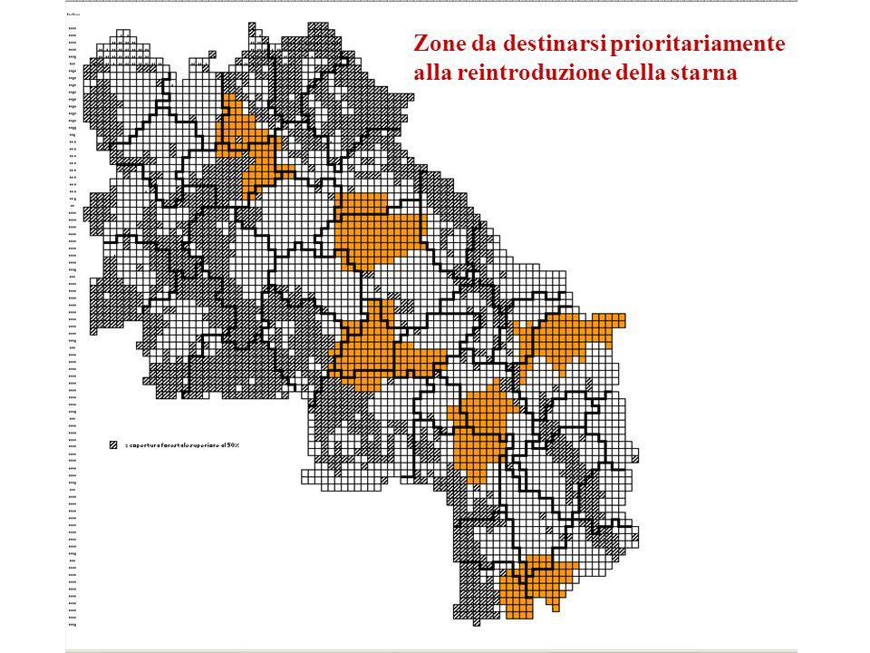 Zone da destinarsi prioritariamente alla reintroduzione della starna