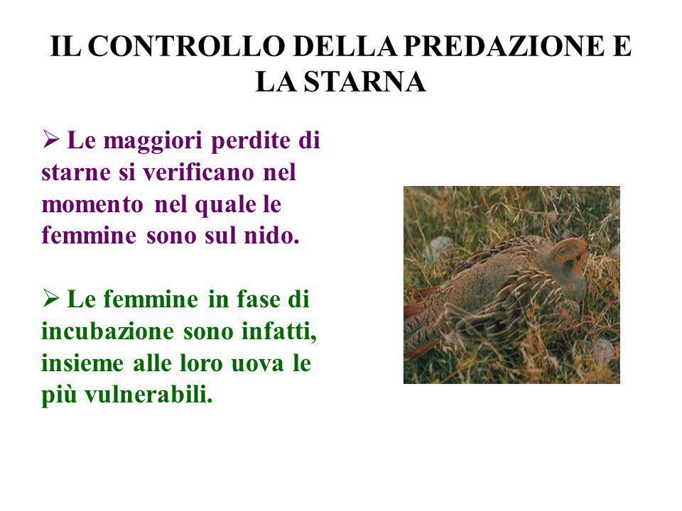 I PRINCIPI DEL CONTROLLO DELLA PREDAZIONE Lobiettivo non è eliminare ogni predatore.