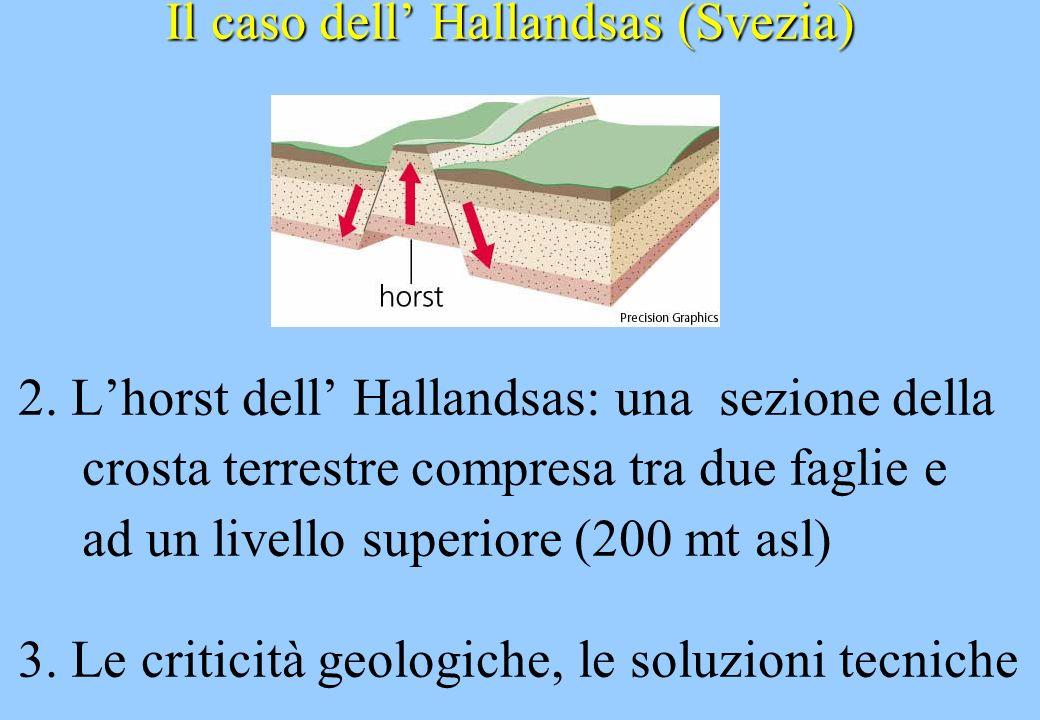 Il caso dell Hallandsas (Svezia) 2. Lhorst dell Hallandsas: una sezione della crosta terrestre compresa tra due faglie e ad un livello superiore (200