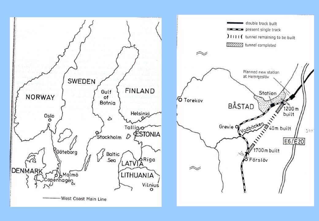 Il caso dell Hallandsas (Svezia) Criticità geologiche Terreno friabile, rocce fratturate, sabbia e materiale poroso Gli scavi abbassano il livello della falda Mancanza dacqua per usi agricoli