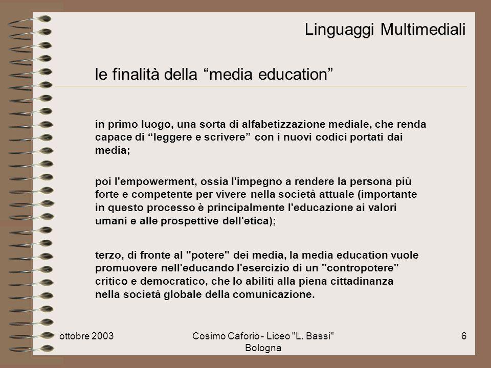 ottobre 2003Cosimo Caforio - Liceo L.