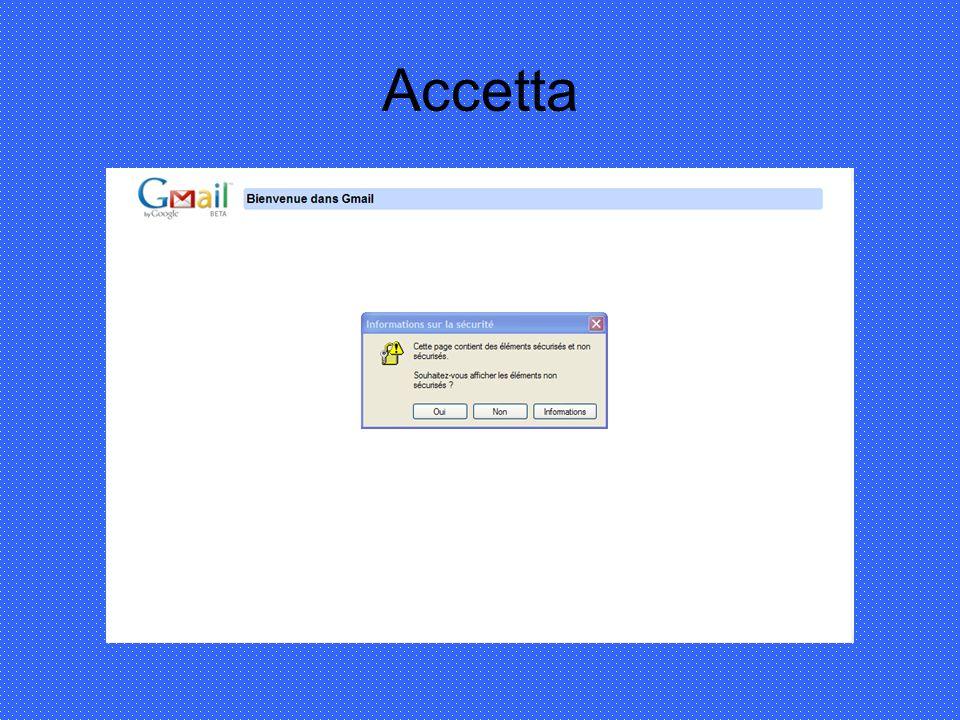 Iscriviti (inscrivez-vous à Gmail)