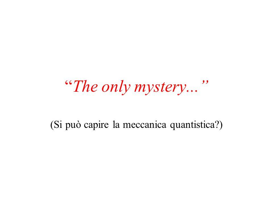 The only mystery... (Si può capire la meccanica quantistica?)