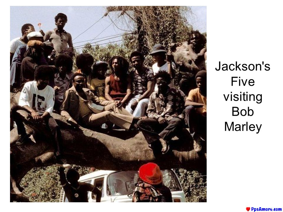 Jackson's Five visiting Bob Marley