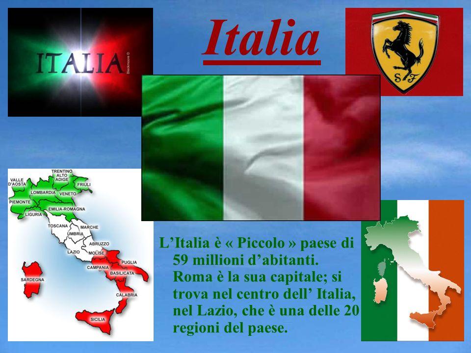 Italia LItalia è « Piccolo » paese di 59 millioni dabitanti. Roma è la sua capitale; si trova nel centro dell Italia, nel Lazio, che è una delle 20 re
