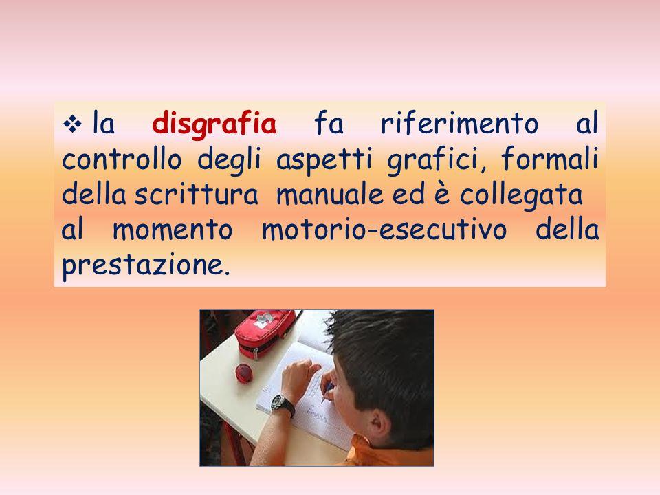 la disortografia riguarda lutilizzo, in fase di scrittura, del codice linguistico.