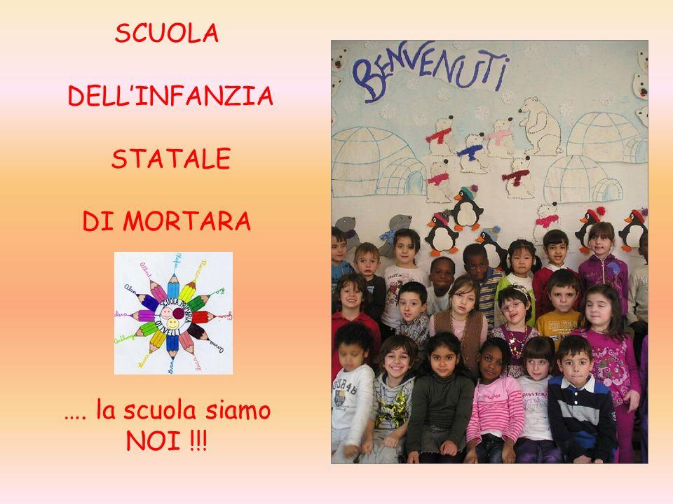 SCUOLA DELLINFANZIA STATALE DI MORTARA …. la scuola siamo NOI !!!