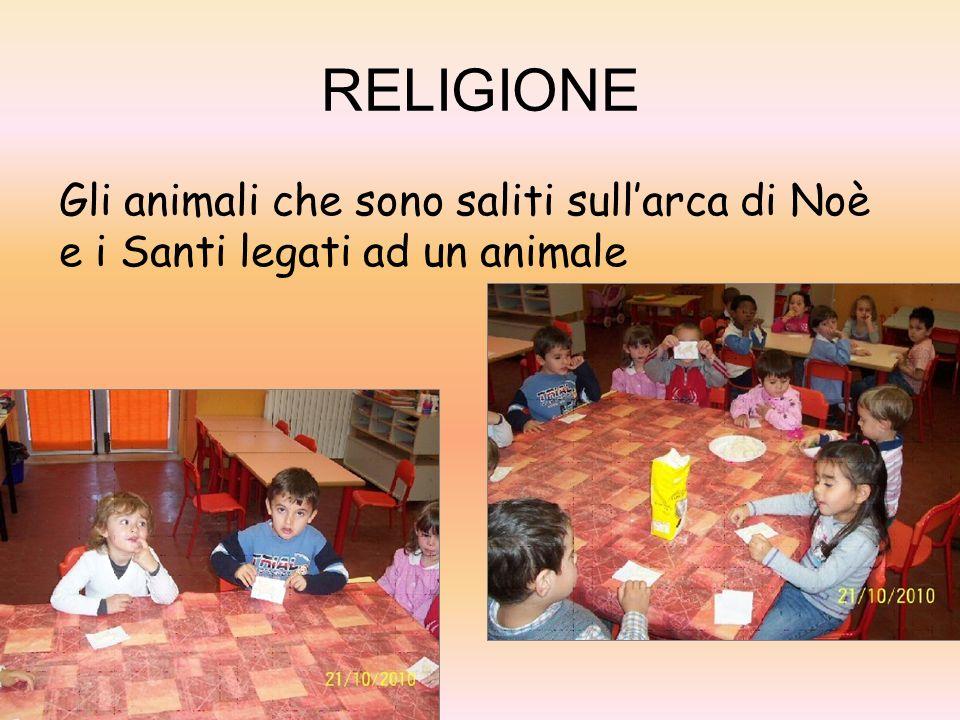 RELIGIONE Gli animali che sono saliti sullarca di Noè e i Santi legati ad un animale