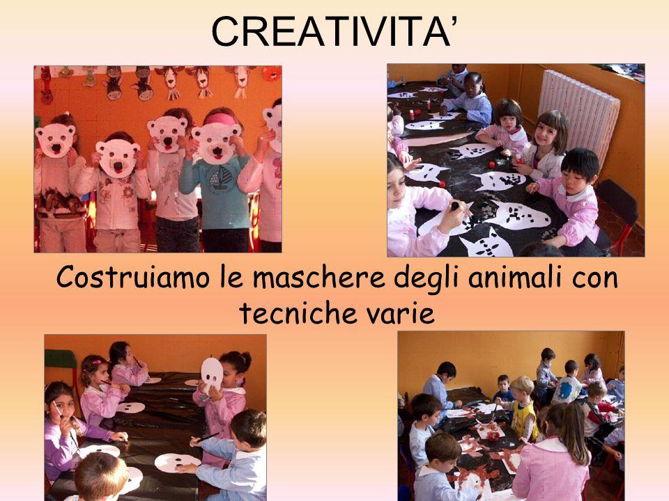 CREATIVITA Costruiamo le maschere degli animali con tecniche varie