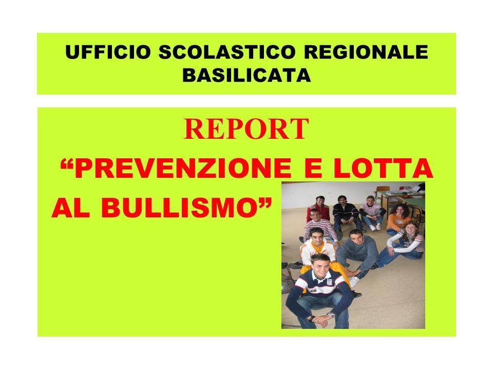 UFFICIO SCOLASTICO REGIONALE BASILICATA REPORT PREVENZIONE E LOTTA AL BULLISMO