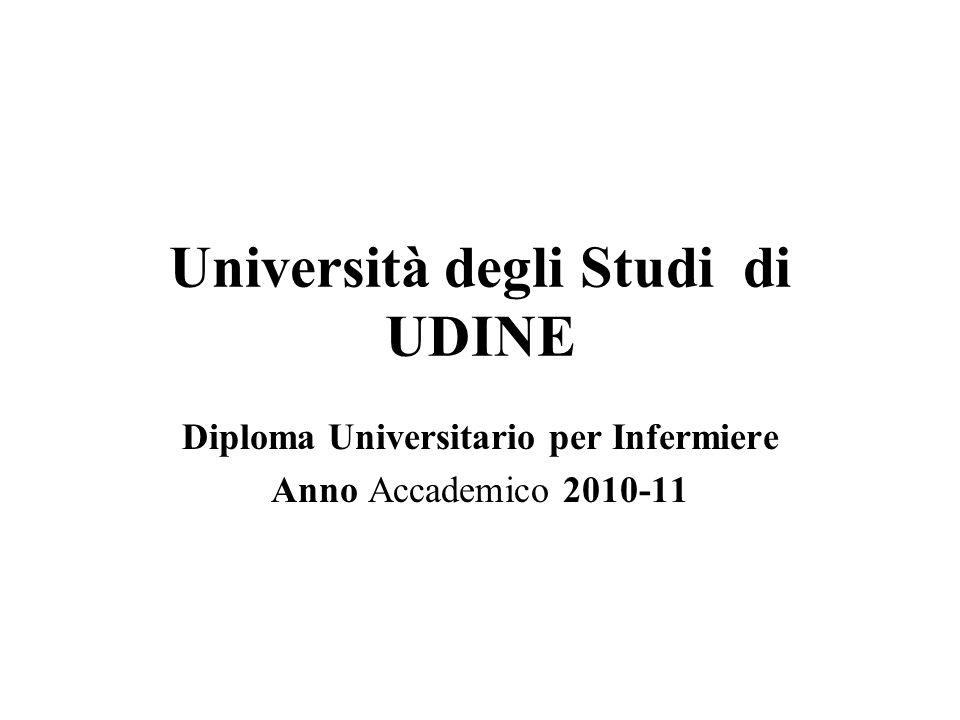 Università degli Studi di UDINE Diploma Universitario per Infermiere Anno Accademico 2010-11