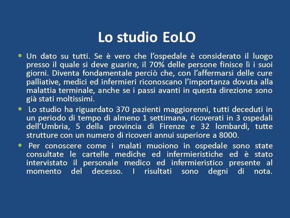 Lo studio EoLO Un dato su tutti.