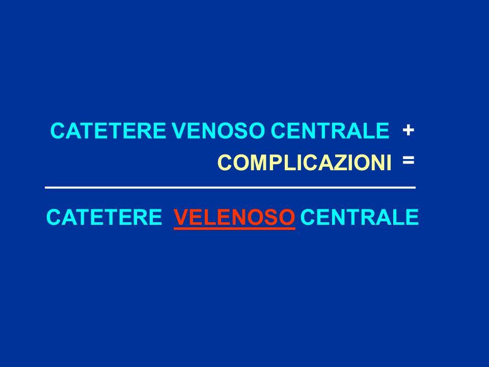 CATETERE VENOSO CENTRALE + COMPLICAZIONI CATETERE VELENOSO CENTRALE =