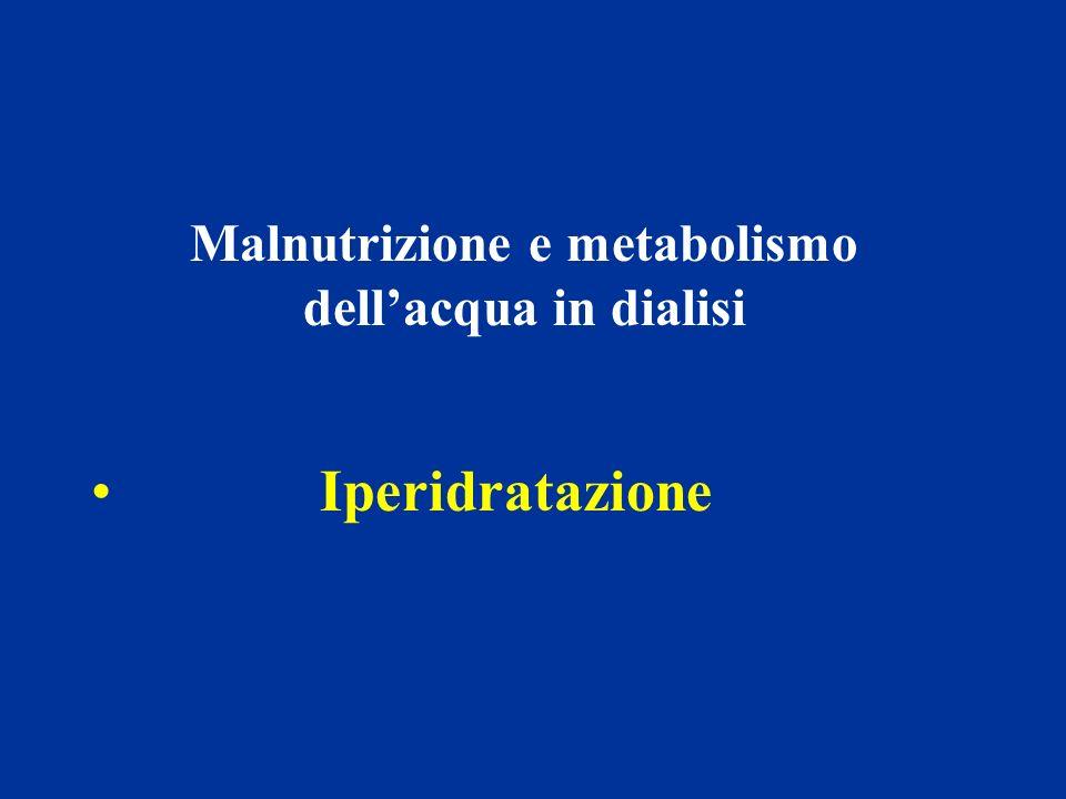 Malnutrizione e metabolismo dellacqua in dialisi Iperidratazione