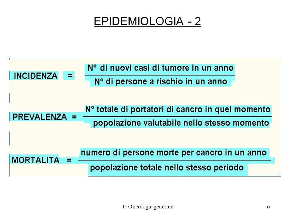 INCIDENZA DEI TUMORI 71- Oncologia generale