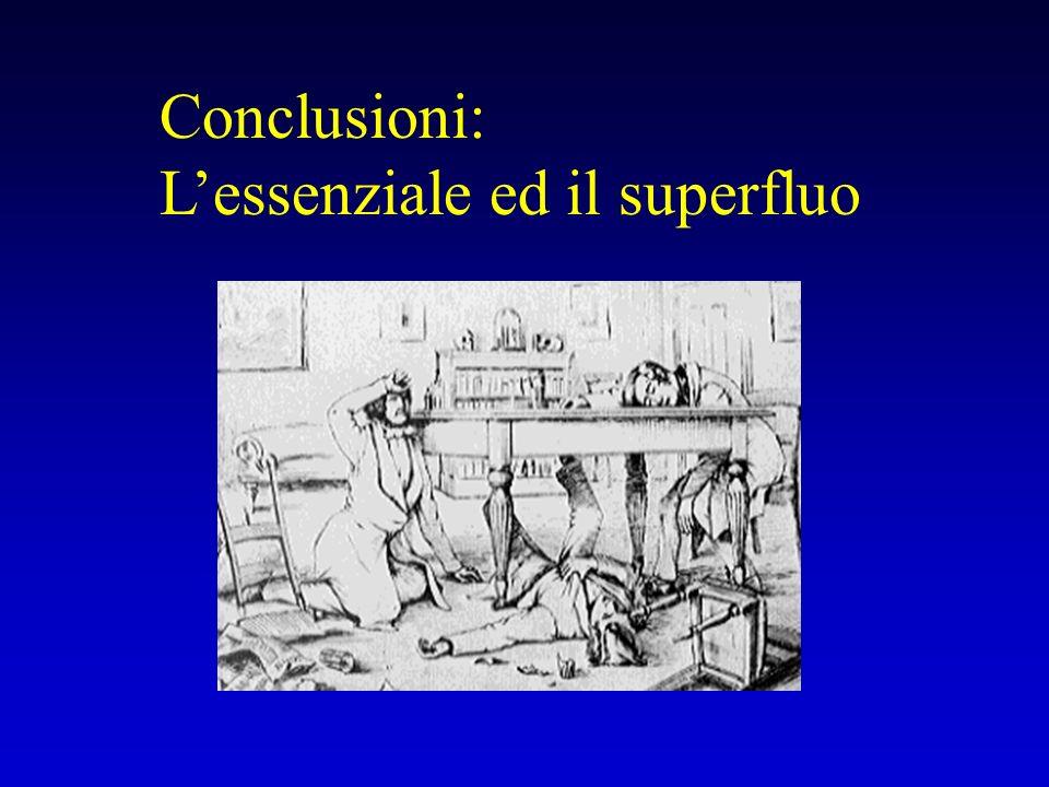 Conclusioni: Lessenziale ed il superfluo