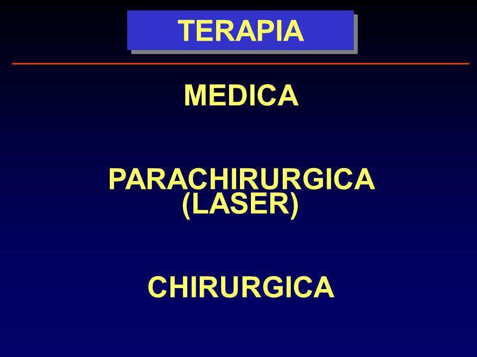TERAPIA MEDICA PARACHIRURGICA (LASER) CHIRURGICA