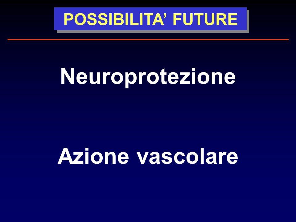 POSSIBILITA FUTURE Neuroprotezione Azione vascolare