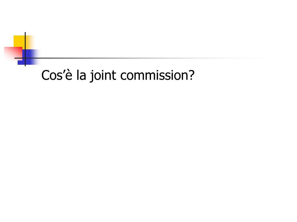 Cosè la joint commission?