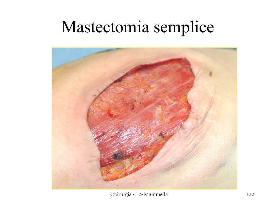 Chirurgia - 12- Mammella122 Mastectomia semplice