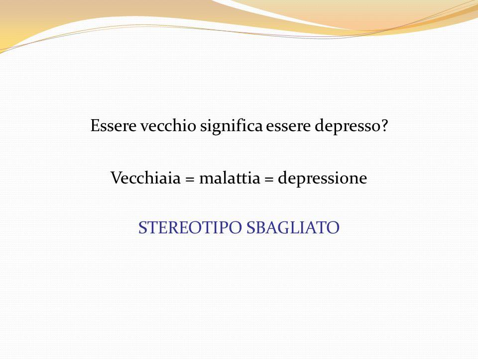 La depressione riveste una particolare rilevanza per il geriatra: Per la sua natura caratterizzata da un continuo cambiamento di forma Per la prevalenza elevata Il rapporto con le malattie (inclusa la demenza) e/o condizioni sociali La qualità della vita e la disabilità