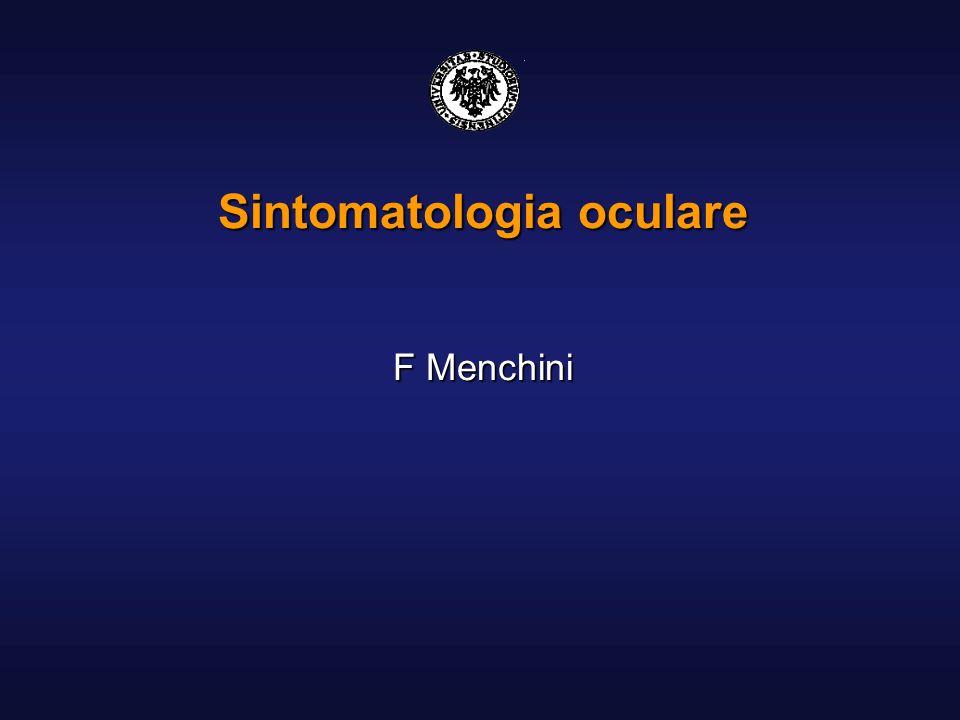 Sintomatologia oculare F Menchini