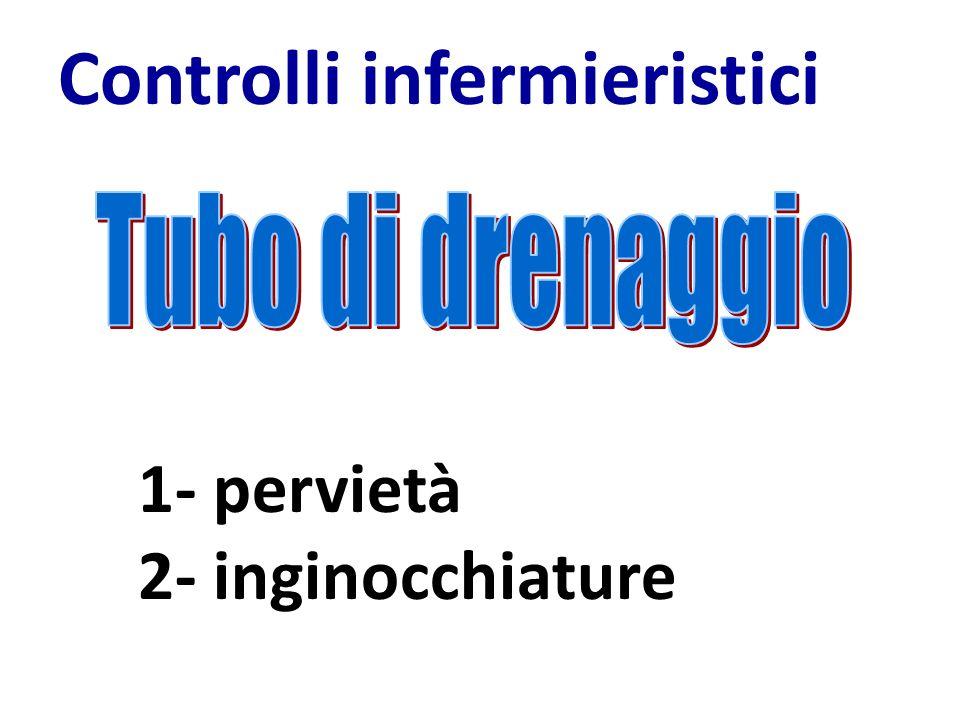 Controlli infermieristici 1- pervietà 2- inginocchiature